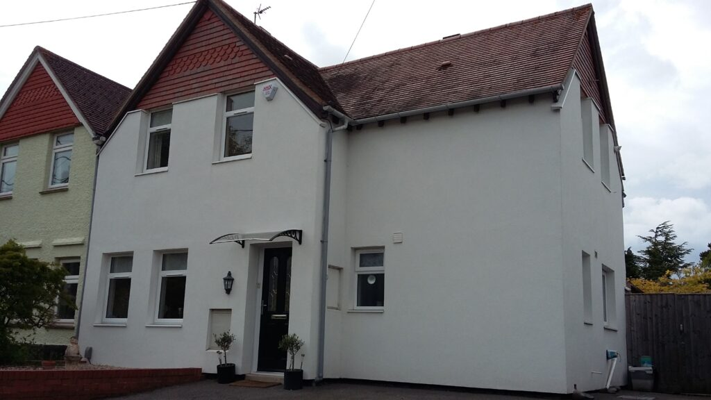 External Wall Insulation On House